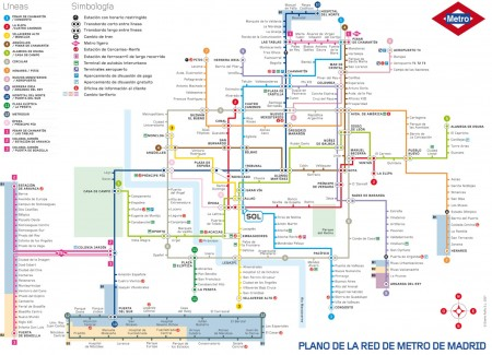 Plan du métro de Madrid