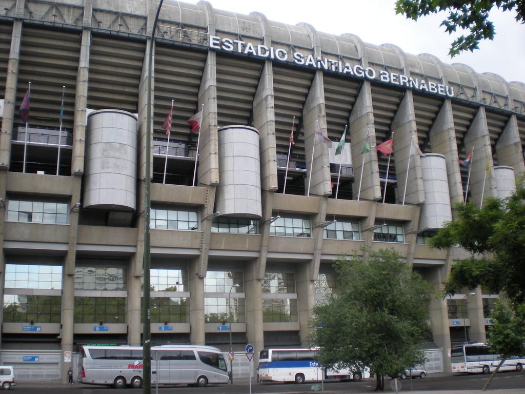 Le stade Santiago Bernabéu à Madrid