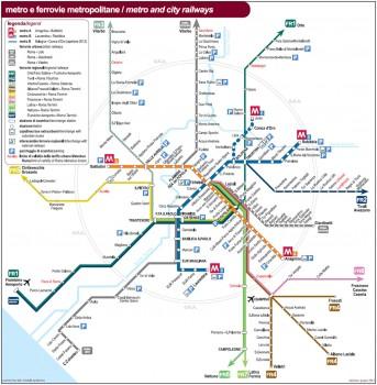 Plan de Métro de Rome en Italie