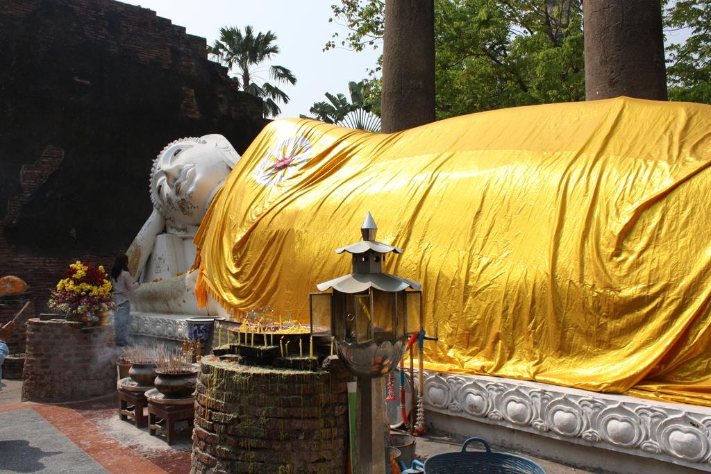 Wat Yai Chai Mongkol à Ayutthaya