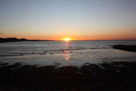 Couché de Soleil à Sainte-Anne-des-Monts au Canada
