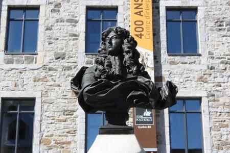 Buste de Louis XIV à Québec sur la place Royale