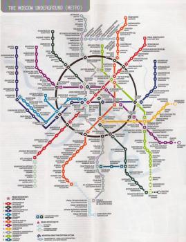 Plan du métro de Moscou