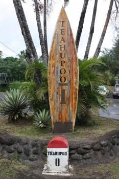 Plage de Teahupoo àen Polynésie