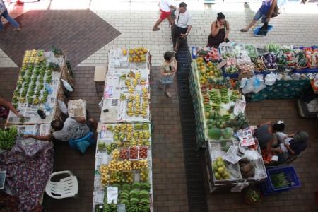 Le marché de Papeete en Polynésie
