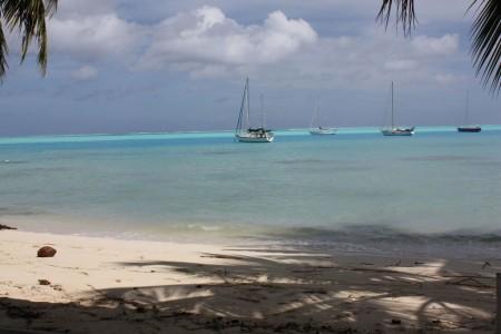 Plage de Bora Bora en Polynésie