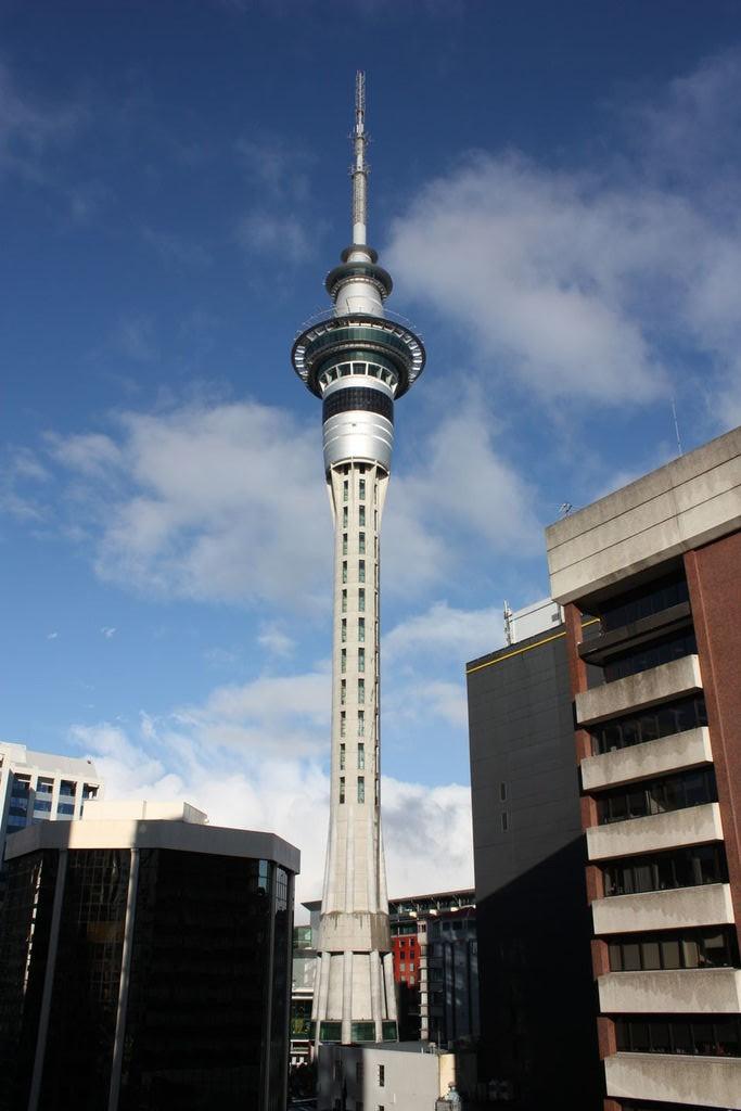 La Sky Tower à Auckland en Nouvelle-Zélande