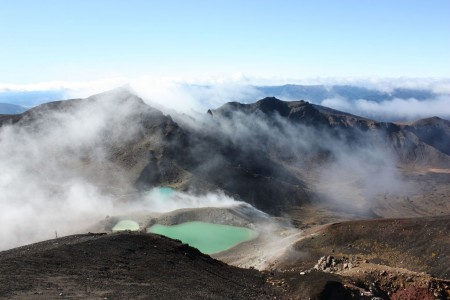 Emerald Lake au sommet du mont Tongariro en Nouvelle Zélande
