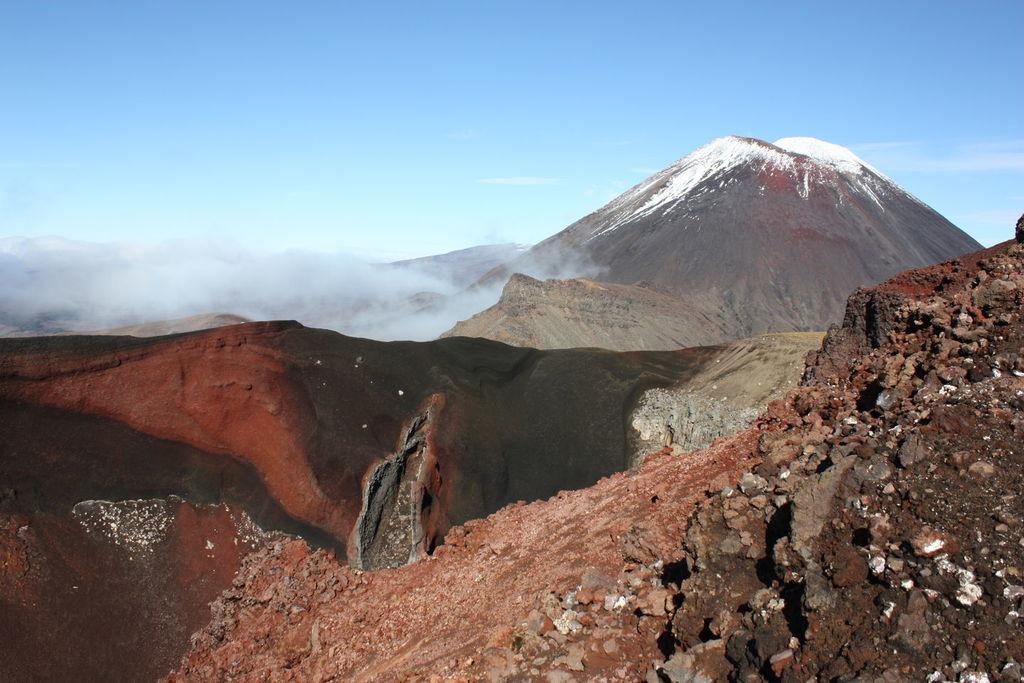 Red Crater dans le park national Tongariro en Nouvelle Zélande