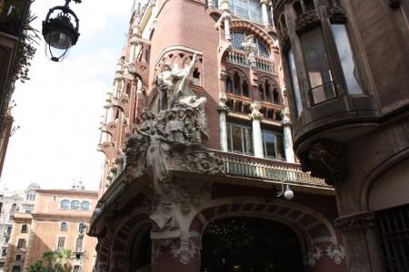 Palais de la musique Catalane à Barcelone en Espagne