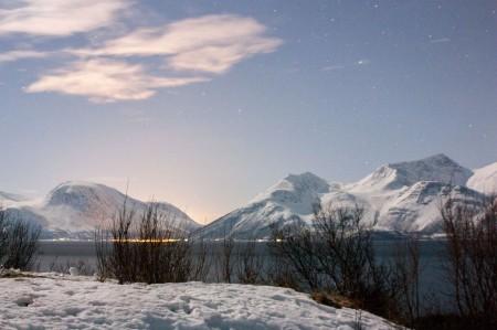 Les Lyngens Alps près de Tromso