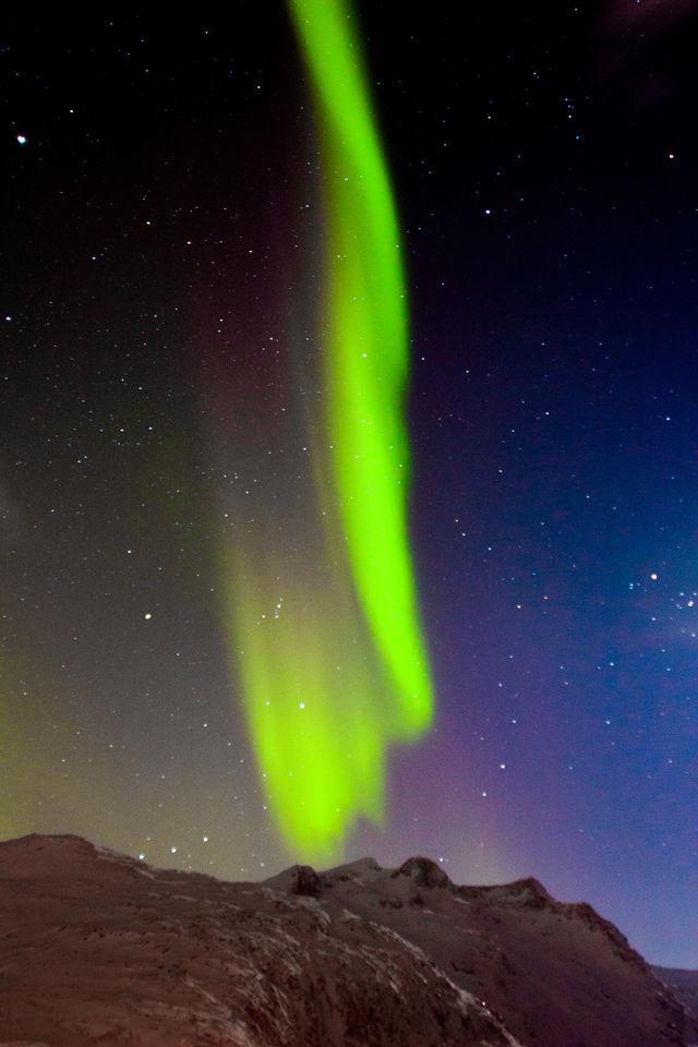 Aurores Boréales observées près de Tromso en Norvège