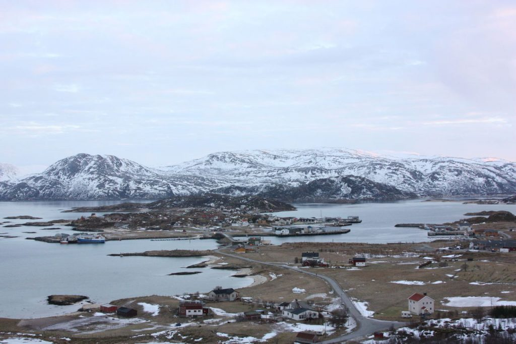Sommaroy près de Tromso en Norvège