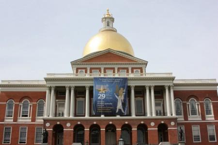 Massachusetts State House à Boston sur la côte EST des Etats-Unis