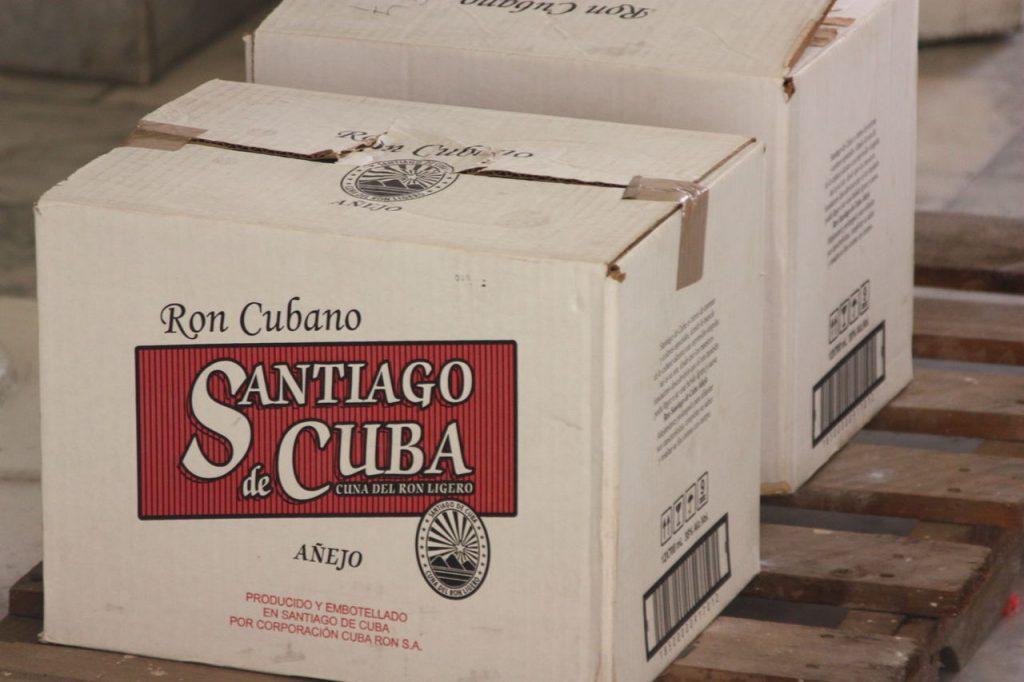 Caisse de Rhum au Museo del Ron à Santiago de Cuba