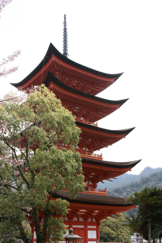 Japon Myajima Pagode
