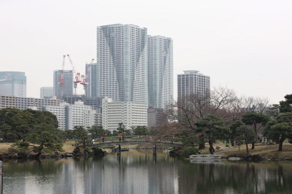 le parc de Hama-rikyù Onshi Teien