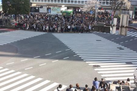 Le carrefour de Shibuya à Tokyo au Japon