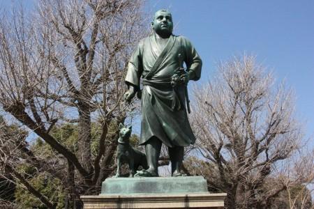 Le dernier samurai du parc de Ueno à Tokyo au Japon