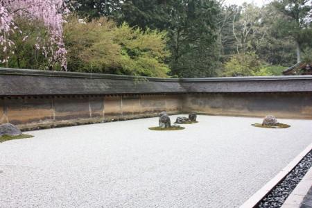 Le jardin Zen de Ryoan-ji à Kyoto au Japon