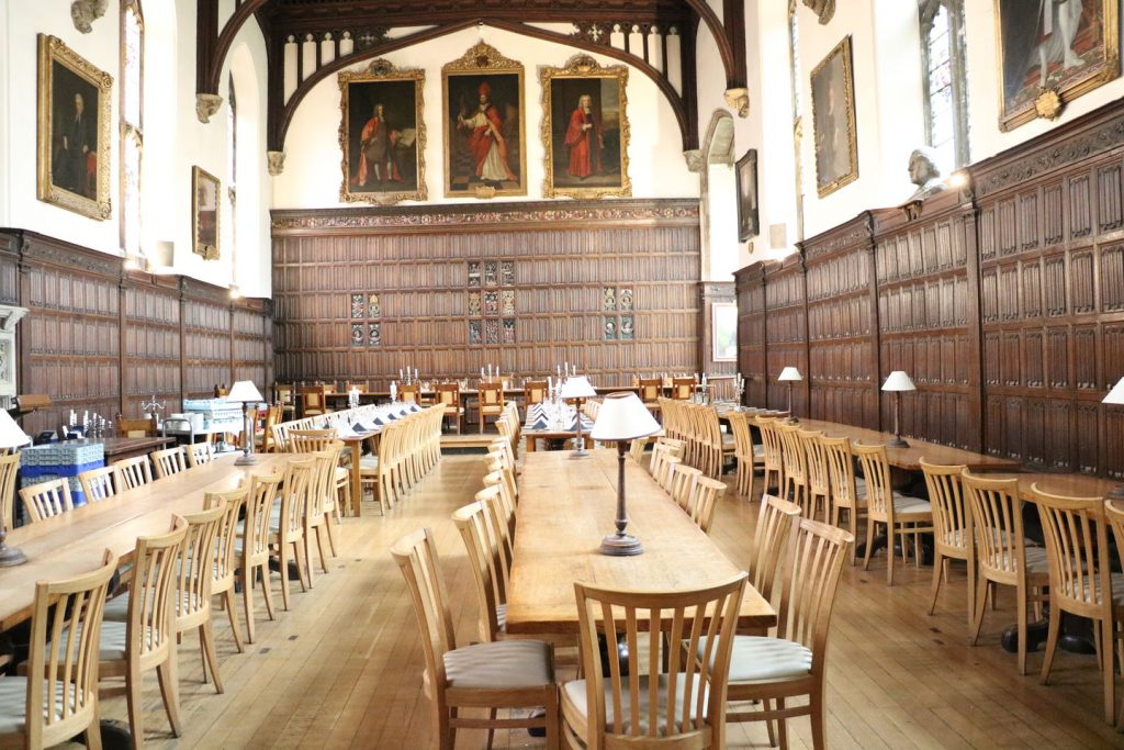 La Salle à manger de Magdalen College à Oxford